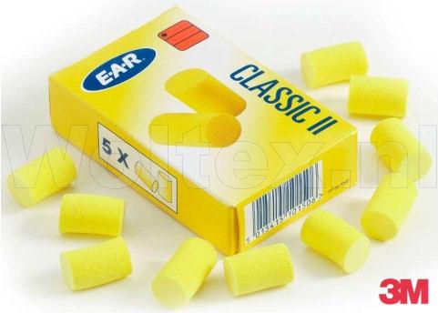 3M E-A-R Oordoppen Classic 50 sets Polymeerschuim Per pak- 5 paar geel