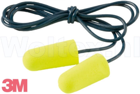 3M E-A-R Oordoppen Soft Yellow Neons Polyurethaanschuim Aan koordje Dispenser- 200 paar fluo-geel