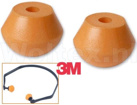 3M Reserve- oordoppen 1311 Polyurethaanschuim Prijs per paar oranje