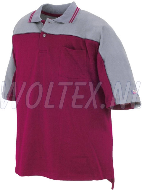 Blaklader Poloshirts 33301050 bordeauxrood-grijs(5794)