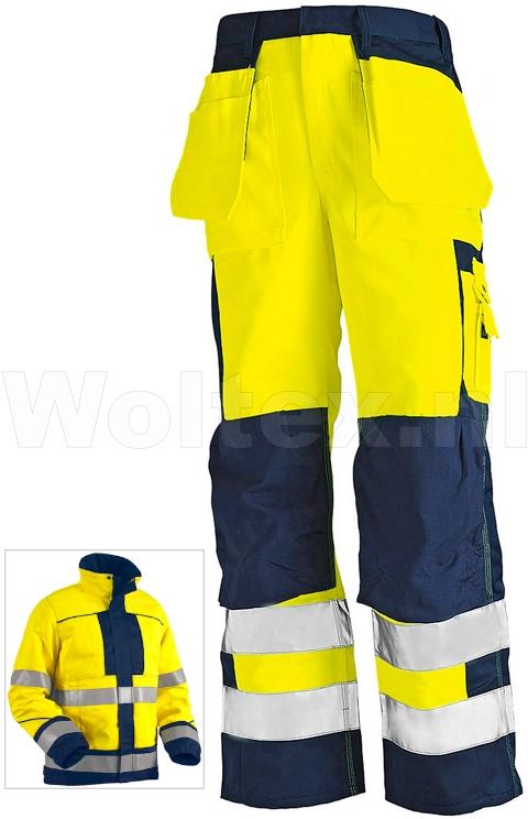 Blaklader Werkbroeken 15761509 High Vis Vlamvertragend geel-marineblauw(3389)