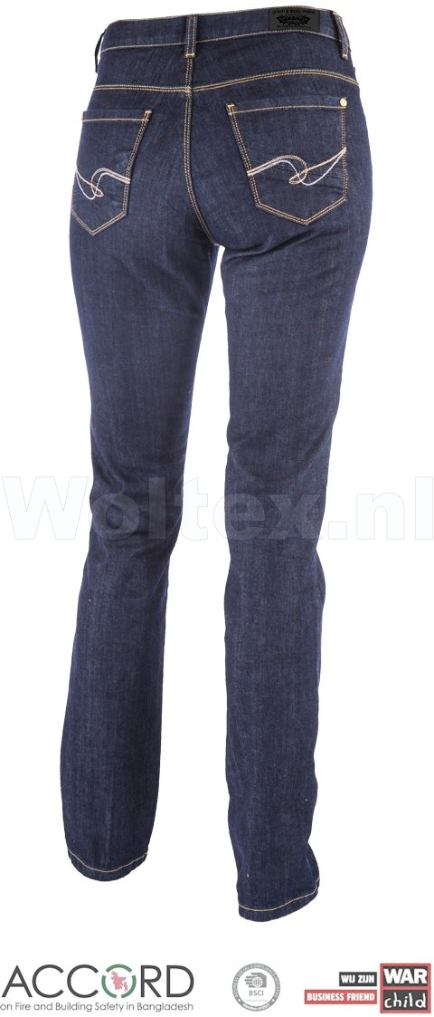 Brams Paris Dames Jeans Lily X51 Stretch donkerblauw-denim