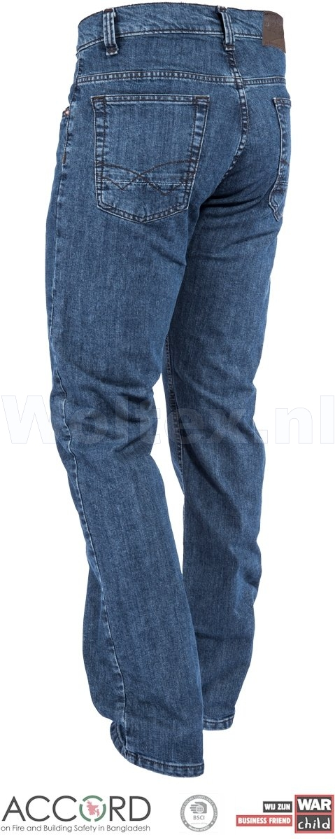 Brams Paris Jeans Danny C59 met Stretch gewassen lichtblauw-denim