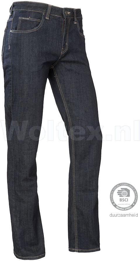 Brams Paris Jeans Danny C94 Stretch blauw-zwart denim