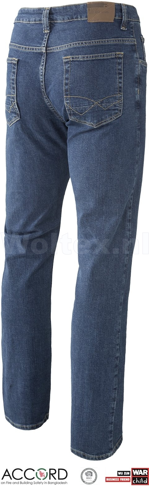 Brams Paris Jeans Danny X63 met Stretch middenblauw-denim
