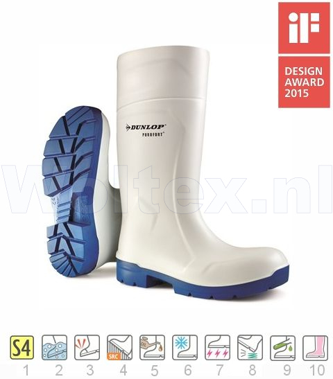 Dunlop Laarzen FoodPro Purofort MultiGrip Safety CA61131 wit-blauw