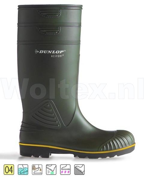 Dunlop Laarzen onbeveiligd Acifort Heavy Duty B440631 groen