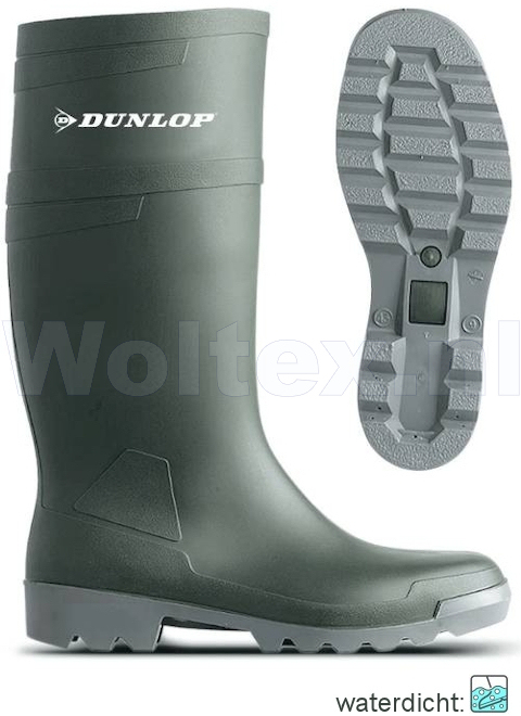 Dunlop Laarzen onbeveiligd W486711 groen