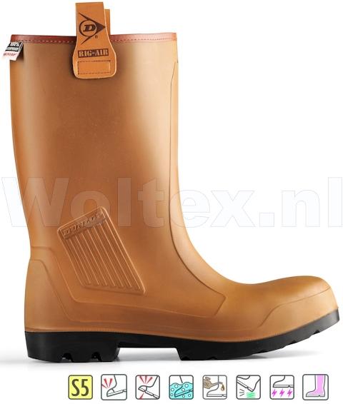 Dunlop Veiligheidslaarzen Purofort Rig-Air Full Safety Gevoerd bruin