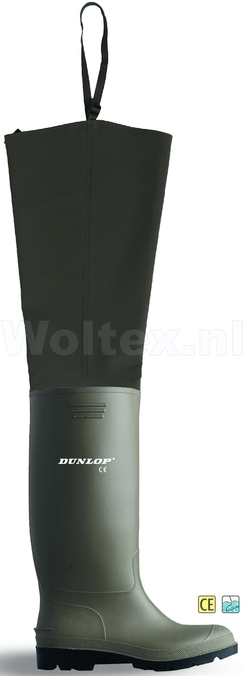 Dunlop Lieslaarzen onbeveiligd 386VP Waterdicht Metaalvrij groen