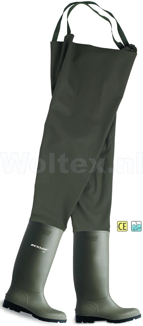 Dunlop Waadbroeken Pricemastor Chest Wader 388VP groen