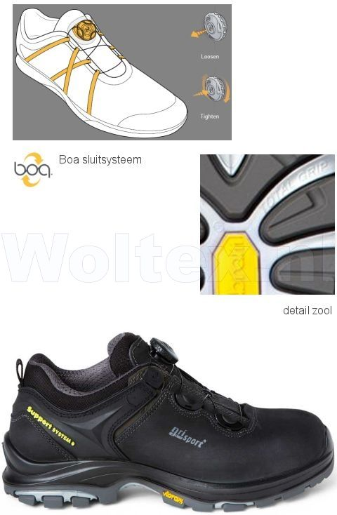 Grisport Werkschoenen S3.Grisport Sts S3 Werkschoenen Laag Constrictor Veilige Neus Zool