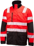 Helly Hansen Werkjacks York 76275 High Vis fluo rood-antracietgrijs(169)