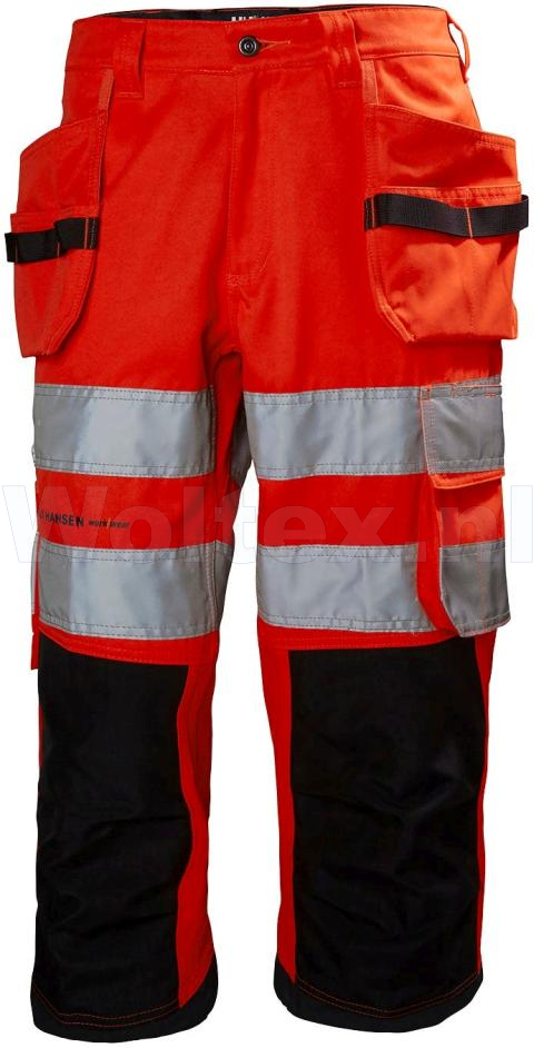 Helly Hansen Piraatbroeken Alna 77414 High Vis fluo rood-antracietgrijs(169)