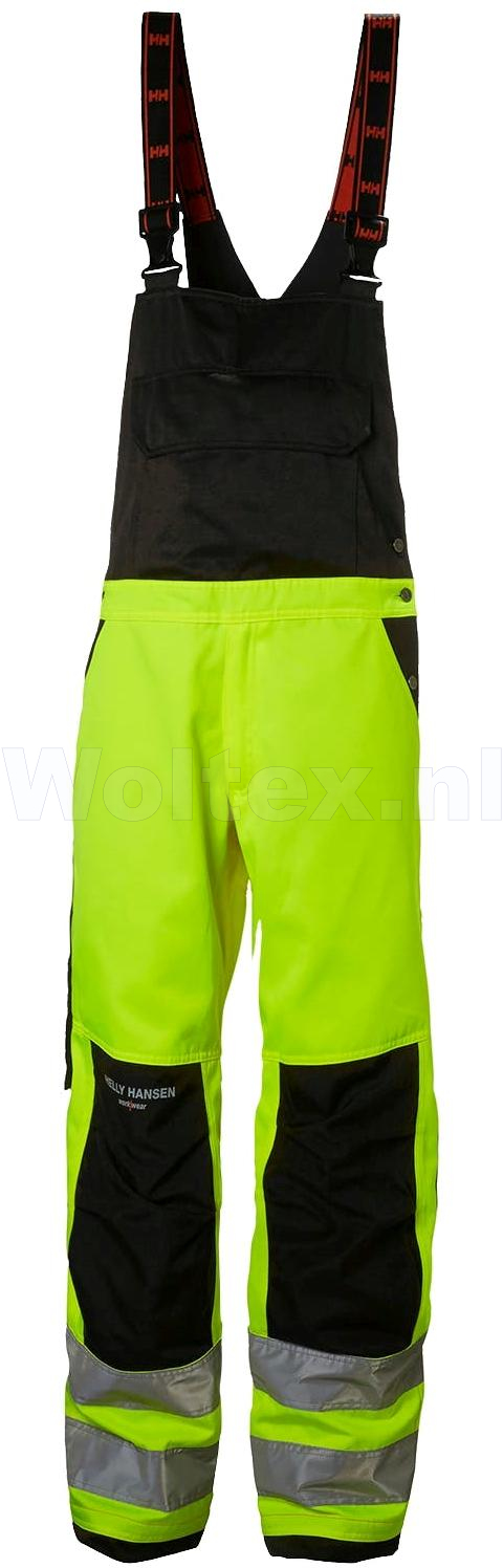 Helly Hansen Am. Overalls Alna 77510 High Vis fluo geel-antracietgrijs(369)