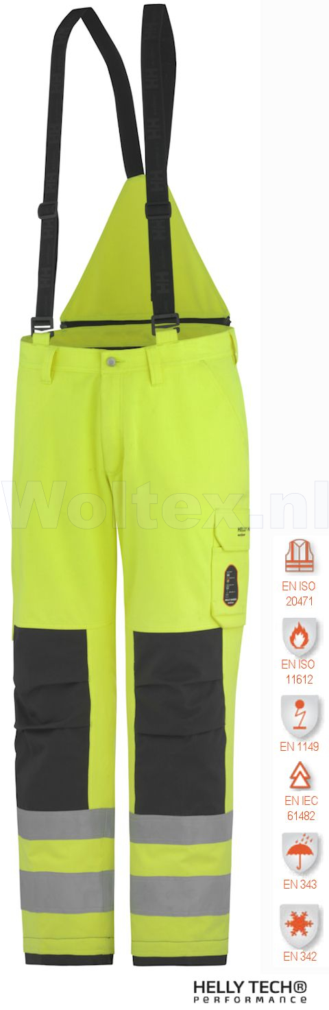 Helly Hansen Winterbroeken Aberdeen 71485 Vlamvertragend High Vis fluo geel-antracietgrijs(369)
