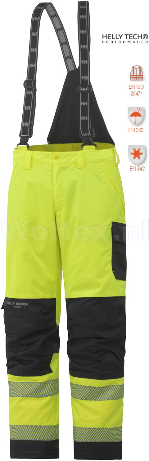 Helly Hansen Winterbroeken York 71466 High Vis fluo geel-antracietgrijs(369)