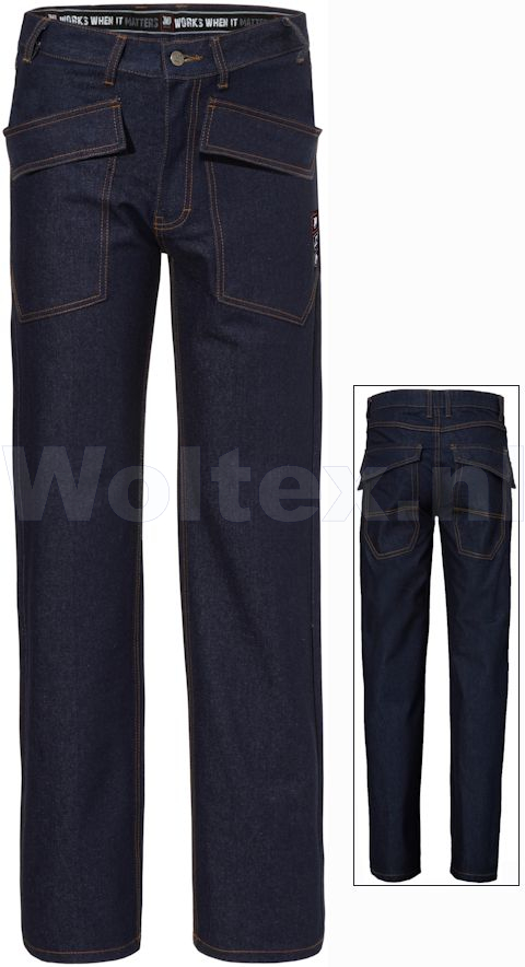 JMP Wear Vlamvertragend Werkbroeken Ampato Jeans Denimkatoen denimblauw(DENIM BLUE)