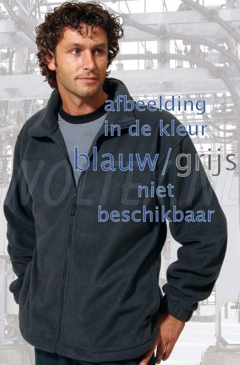 Economy Wear Fleecevesten Peru Ritssluiting Polyester- fleece blauw-grijs