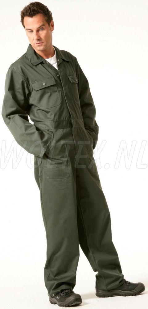Economy Wear Overalls 3BO-M020001 Drukknopen Polyester- katoen groen