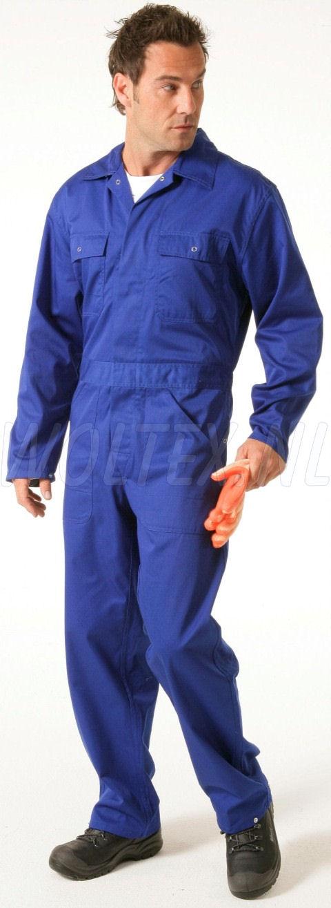 Economy Wear Overalls 3BO-M020001 Drukknopen Polyester- katoen kobaltblauw