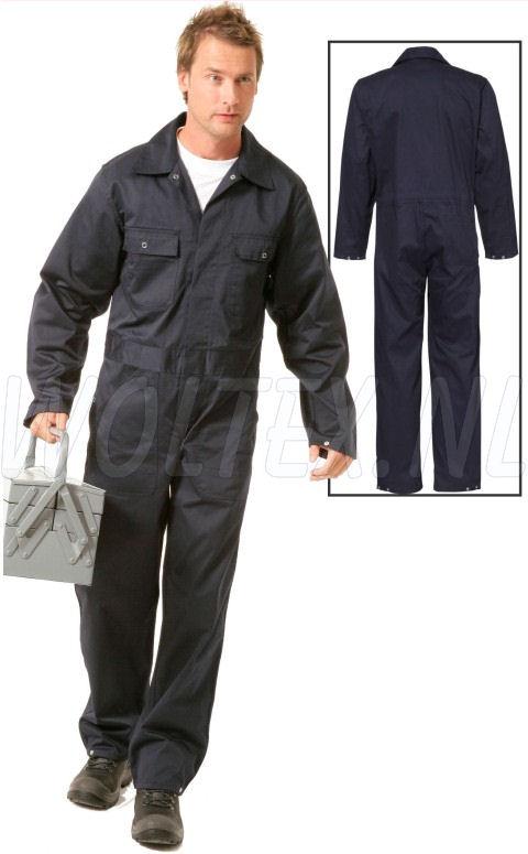 Economy Wear Overalls 3BO-M020001 Drukknopen Polyester- katoen donkerblauw(NAVY)