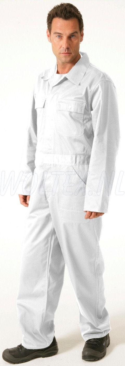 Economy Wear Overalls 3BO-M020001 Drukknopen Polyester- katoen wit