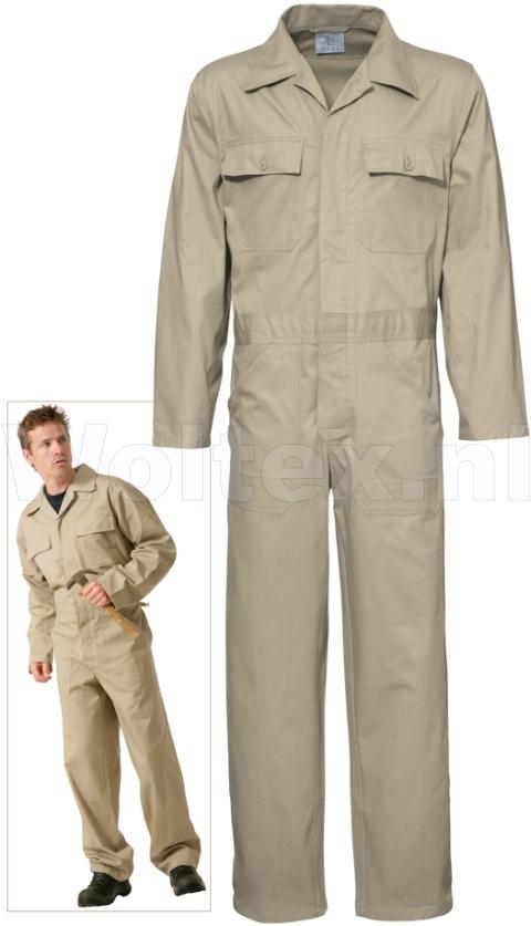 Economy Wear Overalls 3BO-M010001 Knopen- verstelbare taille Katoen khaki