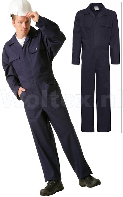 Economy Wear Overalls 3BO-M010001 Knopen- verstelbare taille Katoen donkerblauw