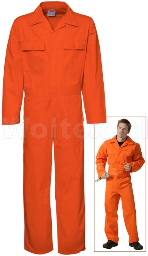 Economy Wear Overalls 3BO-M010001 Knopen- verstelbare taille Katoen oranje