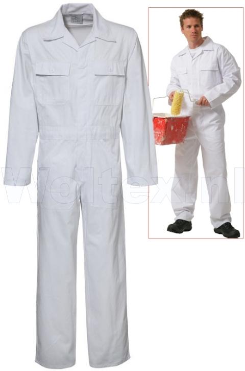 Economy Wear Overalls 3BO-M010001 Knopen- verstelbare taille Katoen wit