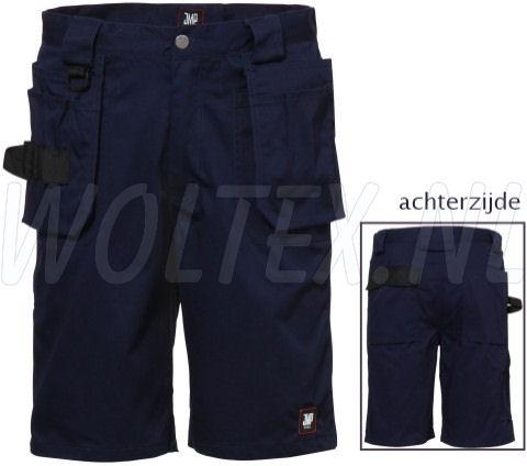 JMP Wear Korte werkbroeken- shorts Utah Polyester- katoen donkerblauw(NAVY)
