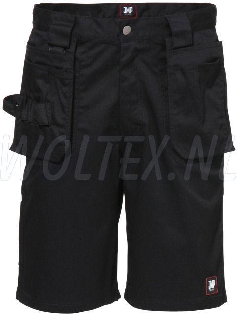 JMP Wear Korte werkbroeken- shorts Utah Polyester- katoen zwart(ZWART)