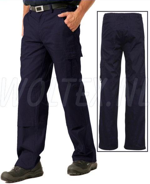 Economy Wear Werkbroeken 3BB-M010007 Kniezakken Katoen donkerblauw