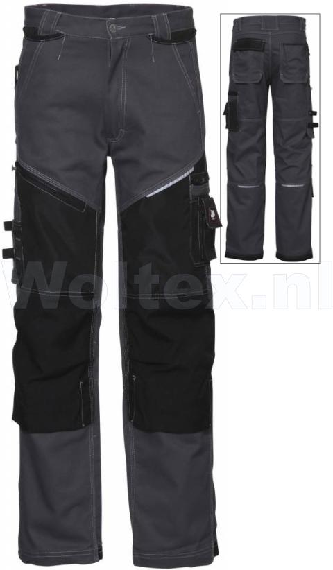 JMP Wear Werkbroeken Dakota 3BB-M010011 Kniezakken Katoen- Cordura grijs(GRIJS)