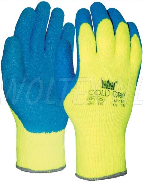 M-Safe Werkhandschoenen 14718500 High Vis fluo geel-blauw