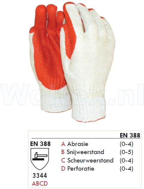 M-Safe Werkhandschoenen 11158600 wit-rood