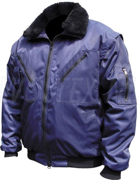 M-Wear Pilot jacks 8380 Uitneembare voering- mouwen- kraag donkerblauw