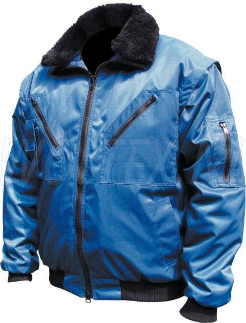 M-Wear Pilot jacks 8381 Uitneembare voering- mouwen- kraag kobaltblauw