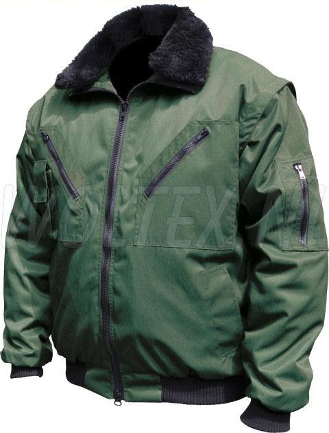 M-Wear Pilot jacks 8385 Uitneembare voering- mouwen- kraag groen