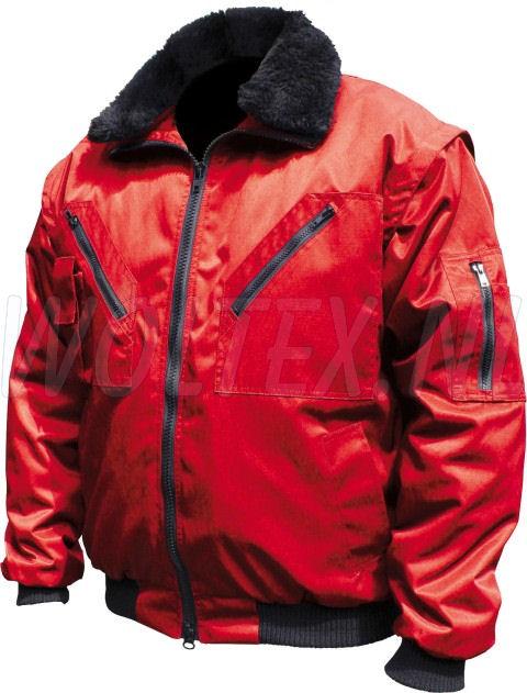 M-Wear Pilot jacks 8388 Uitneembare voering- mouwen- kraag rood