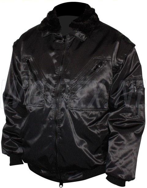M-Wear Pilot jacks 8390 Uitneembare voering- mouwen- kraag zwart