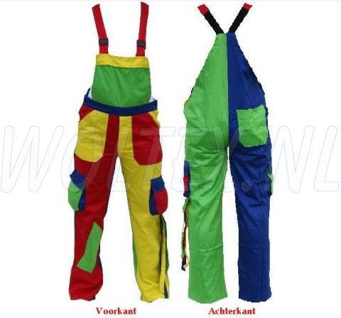 Noname Amerikaanse kinderoveralls TB46535 Franje Polyester- katoen rood-geel-groen-kobaltblauw