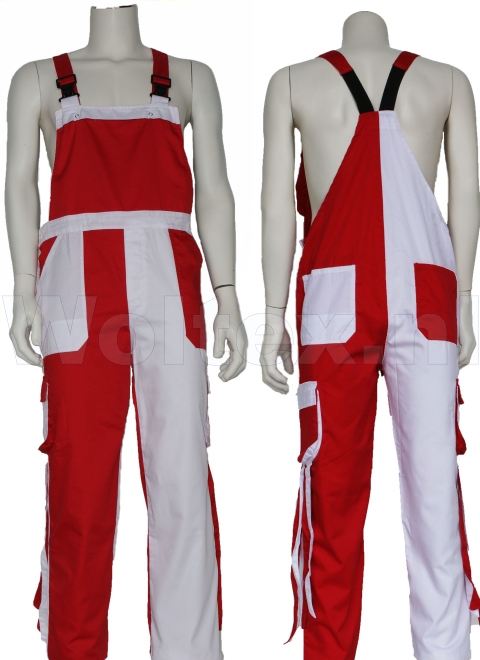 Noname Amerikaanse kinderoveralls TB46535 Franje Polyester- katoen rood-wit(ROWITF)