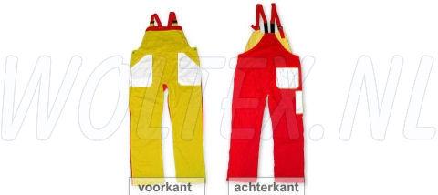 Noname Amerikaanse kinderoveralls TB36535 3-kleurig Polyester- katoen geel-wit-rood