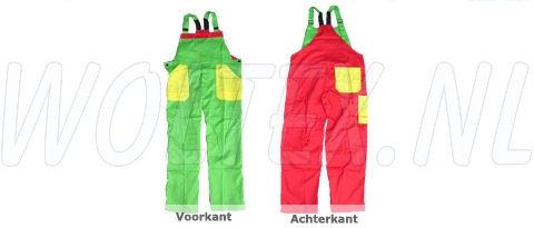 Noname Amerikaanse kinderoveralls TB36535 3-kleurig Polyester- katoen groen-geel-rood