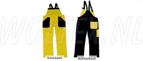 Noname Amerikaanse kinderoveralls TB26535 2-kleurig Polyester- katoen geel-zwart