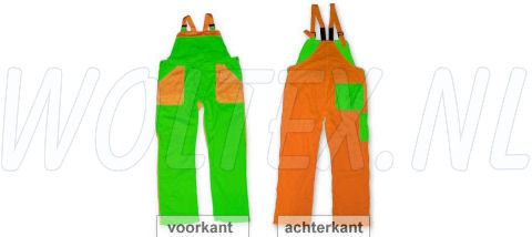 Noname Amerikaanse kinderoveralls TB26535 2-kleurig Polyester- katoen groen-oranje(GROENOR)