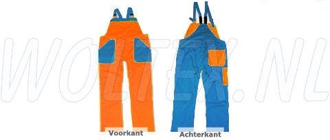Noname Am. Overalls TB26535 oranje-korenblauw