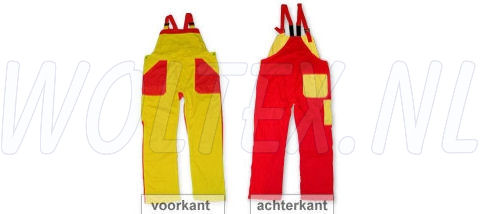 Noname Am. Overalls TB26535 geel-rood